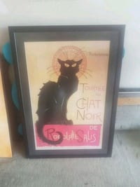 black wooden framed painting of cat Edmonton, T6X 1A2
