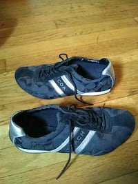Pair of black silver coach shoes Brockton, 02301