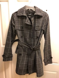 XS Jacob Belted Plaid Coat Aurora, L4G 0B6