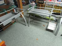 Metal desk with glass top Michigan