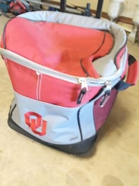 OU rolling ice chest
