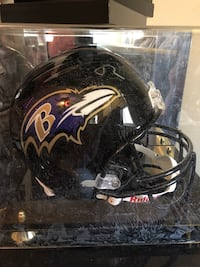 Torrey Smith / Dereck Mason dual auto full size helmet and case Washington, 20024
