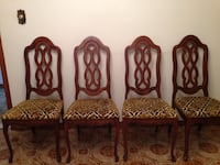 4 wood dining chairs Vaughan, L6A 4A7