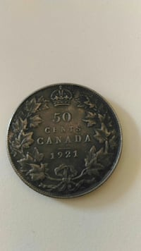1921 Canada Fifty .50c Coin Toronto, M1L