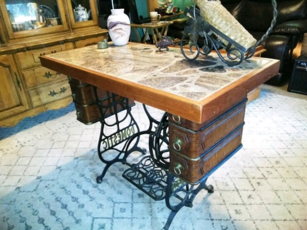 Fabulous Antique Sewing Machine Table Home Interior And Landscaping Transignezvosmurscom