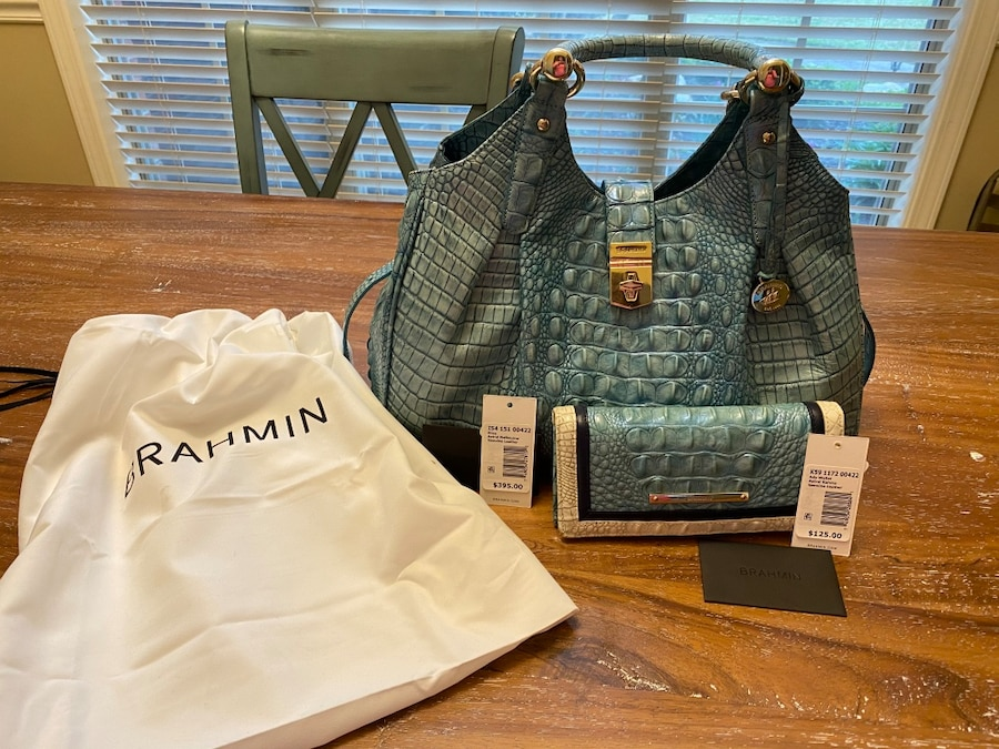 Photo Brahmin Bag and Wallet
