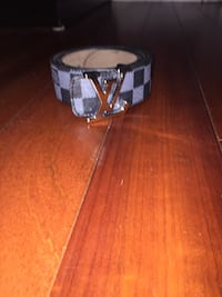Silver buckle and gray LV belt  Toronto, M6N 1V1