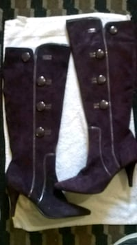 8.5 Purple leather knee high boots  Cayce, 29033