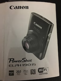 Canon PowerShot  WiFi 20MP, RED Camera COLOR, New