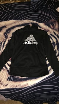 Black and white adidas pullover hoodie