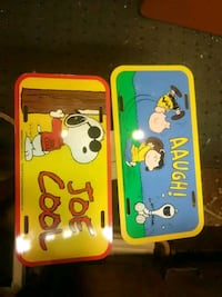 Peanuts license plates