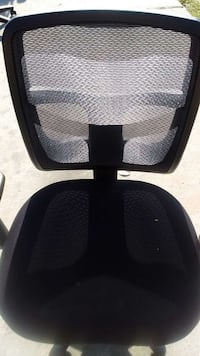 Used Black Mesh Back Armless Rolling Chair For Sale In