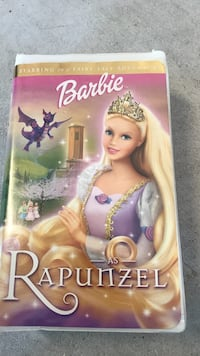 Barbie rapunzel dvd case