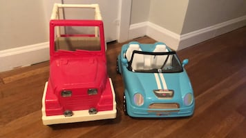 Lot of 2 Doll Vehicles.