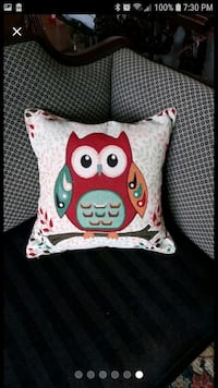 Red Owl pillow case 18 inches  South Riding, 20152