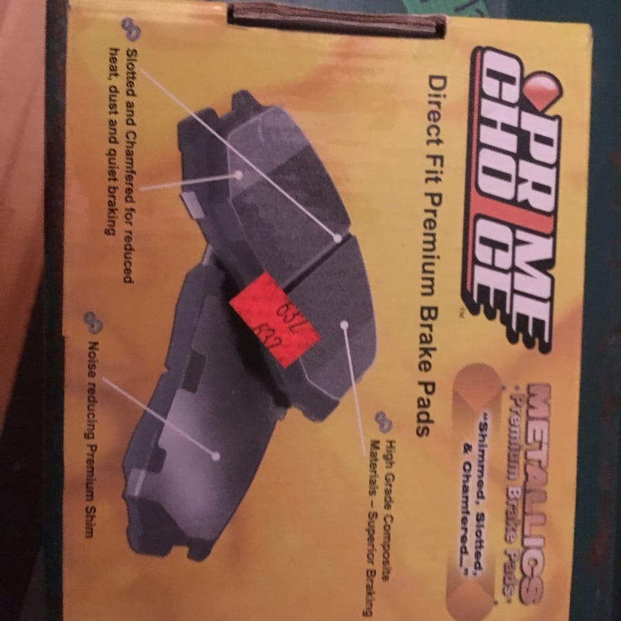 Item:high quality premium choice brake pads new in the box