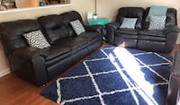 Reclining Leather Sofa and Loveseat Centreville, 20121