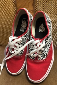Vans red and white colour way