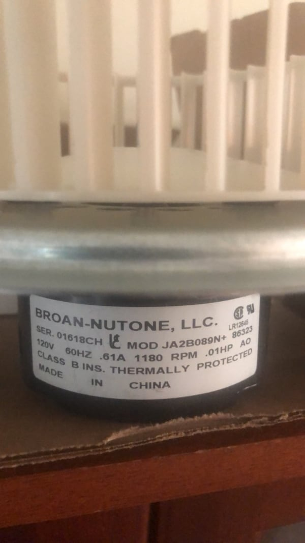 Bath fan motor 74e00215-ad22-43e7-bac8-e4fb668c3de3