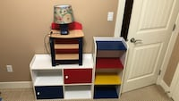 Two storages with side table/lamp included