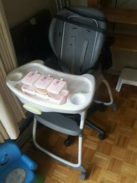 baby's white and gray high chair London, N6G 2V4