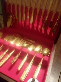 Antique Gold tone silverware Massillon