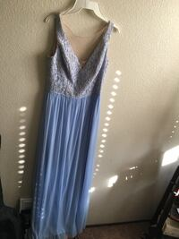 Women's light purple blue and tan prom dress size 6 Elk Grove, 95624