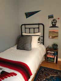 Black Metal Headboard and Bed Frame  Toronto, M6H 3S7