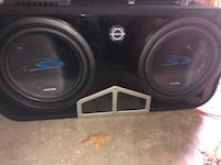 """Alpine 12"""" subs x2 with box $480. OBO.  Mississauga, L5M 0R7"""