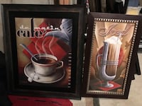 Kitchen art $15 for coffee and $10 for iced 554 km