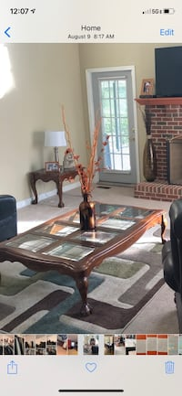 Wood & glass Coffee table & 2 matching end tables Fort Washington, 20744