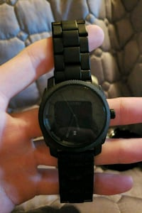 All black fossil watch $35 obo Baton Rouge