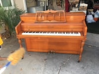 brown wooden upright piano with bench Fullerton, 92831