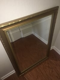 Rectangular framed wall mirror