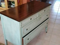brown and white wooden dresser Boca Raton, 33498