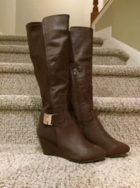 New Size 7Adrianne Wedge Boots Knee High 46 km