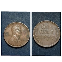 1938 One Cent USA coin collage Cleburne, 76031