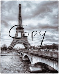 Eiffel Tower black and white 13x19 photo Saint Peters, 63376