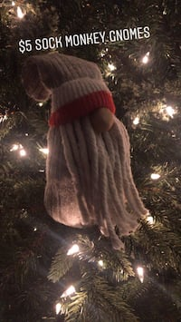 Christmas / winter decor sock monkey gnome Abbotsford, V4X 2P2