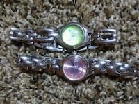 Green butterfly watch with pink hearts watch Manchester, 37355