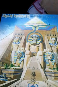 "Iron Maiden ""Powerslave"" vinyl album La Plata, 20646"