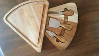 Wooden board with 3 piece cutlery set Richmond Hill, L4E 0S2