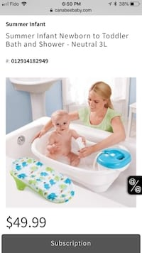 Baby's white and blue bather Cambridge, N1S 3J6