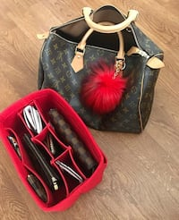 New red organizer for Louis Vuitton Speedy 30 Toronto, M2J 1Z1