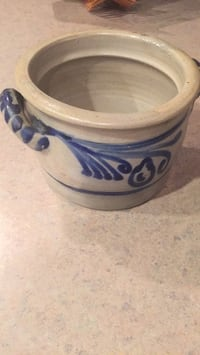 Blue and grey pottery  from Germany, 6.5 inches across Woodbridge, 22192