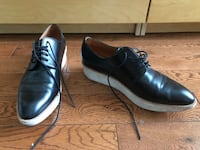 pair of black leather dress shoes Toronto, M6R 2C3