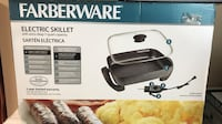 black Farberware electric skillet box