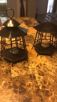 Set of asian style tea light candle holders