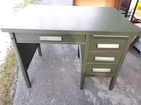 Old painted green solid wood desk 733 km