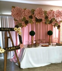 white and pink floral window curtain Las Vegas, 89147